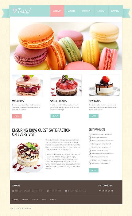 スイーツ店(マカロン・ケーキ)ホームページ